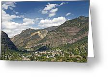 Ouray Colorado Nestled In The San Juan Mountains Greeting Card