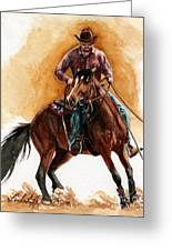 Out For A Spin Greeting Card by Linda L Martin