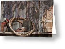 Out In The Barn Iv Greeting Card by Tom Mc Nemar