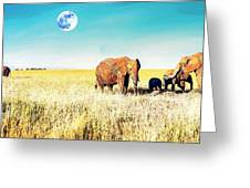 Out In The Serengeti Greeting Card