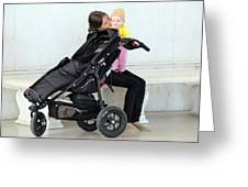 Out Of The Baby Stroller -- A Mother And Daughter Greeting Card