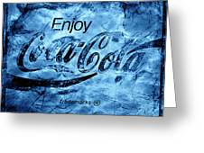 Out Of This World Coca Cola Blues Greeting Card