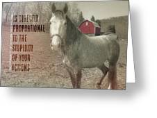 Out To Pasture Quote Greeting Card