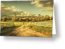 Outback Country Paddock Greeting Card