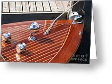 Outboard Runabout Greeting Card