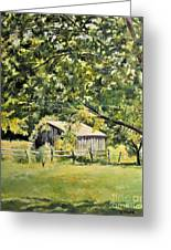 Outbuilding At Oriskatach New York Greeting Card