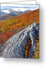 Outcrop Above Parkway Greeting Card