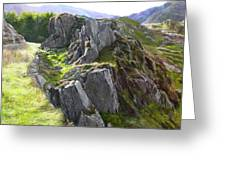 Outcrop In Snowdonia Greeting Card