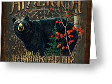Outdoor Bear Greeting Card