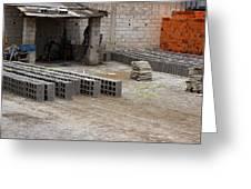 Outdoor Brickyard In Cotacachi Greeting Card