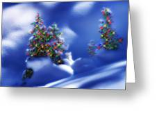 Outdoor Christmas Trees Greeting Card