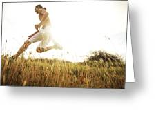 Outdoor Jogging II Greeting Card