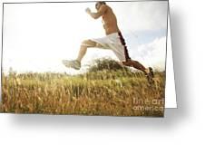 Outdoor Jogging IIi Greeting Card