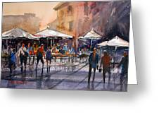 Outdoor Market - Rome Greeting Card