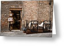 Outdoor Seating Available Greeting Card