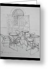 Outdoor Seating - Pirates Alley - French Quarter Greeting Card