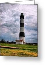 Outer Banks Beach Lighhouse  Greeting Card