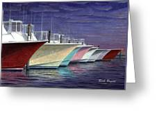 Outer Banks Line-up Greeting Card