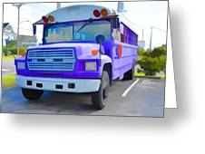Outer Banks University Bus 1 Greeting Card