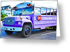 Outer Banks University Bus 2 Greeting Card