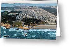 Outer Richmond San Francisco Aerial Greeting Card