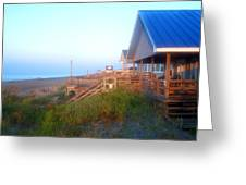 Outerbanks Sunrise At The Beach Greeting Card