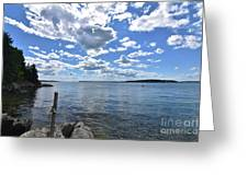 Outhaul On An Island In Casco Bay Maine  Greeting Card