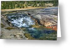 Outlet Firehole Lake Greeting Card