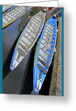 Outrigger Canoe Boats Greeting Card