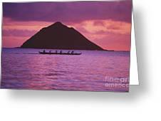 Outrigger Canoe Team Greeting Card