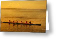 Outrigger In Tahiti Greeting Card