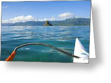 Outrigger On Ocean Greeting Card
