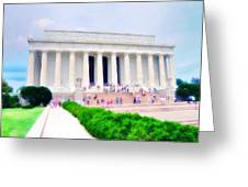 Outside The Lincoln Memorial Greeting Card