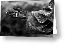 Outstreched Hand B-w Greeting Card