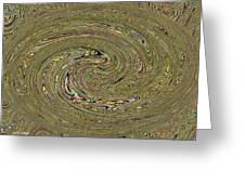 Oval Abstract Panel 6150-5 Greeting Card