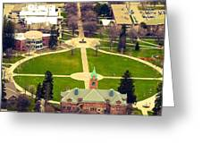 Oval At University Of Montana  Greeting Card