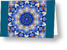 Ovarian Cancer Awareness Mandala Greeting Card