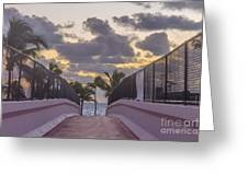 Over Bridge To The Sunrise Greeting Card
