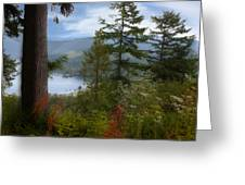 Over Burrard Inlet Greeting Card by Barbara  White