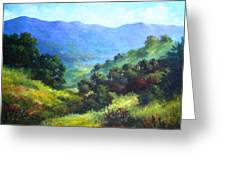 Over Looking Clearlake Greeting Card