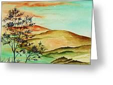 Over Orange Hills Greeting Card
