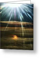 Over Rivers Of Gold Greeting Card