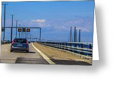 Over The Bridge Greeting Card