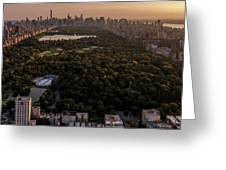 Over The City Central Park Greeting Card