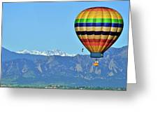 Over The Flatirons Greeting Card
