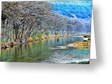 over the Guadalupe Greeting Card