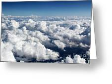 Over The Heavenly Clouds Greeting Card