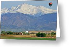 Over The Mountains Greeting Card