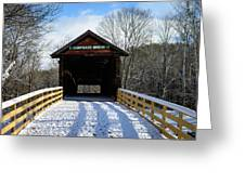 Over The River And Through The Bridge Greeting Card