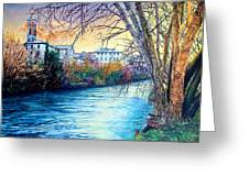 Over The River Greeting Card
